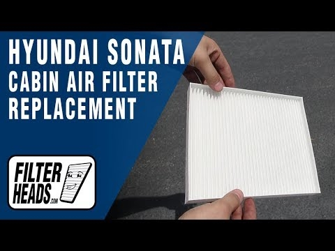 how to replace cabin air filter 2020 hyundai sonata Hyundai Sonata Cabin Air Filter