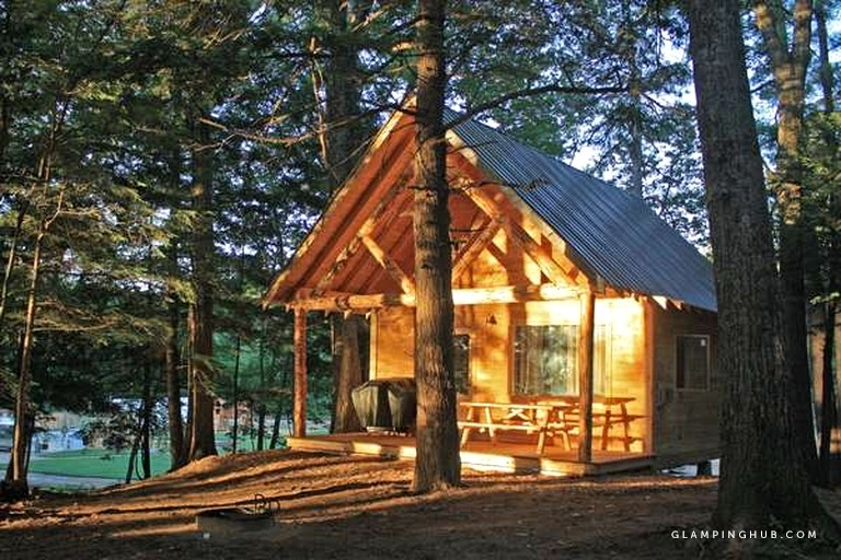idyllic cabin rental with a fire pit in conway new hampshire New Hampshire Cabin