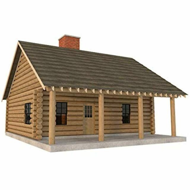 log cabin house plans diy 2 bedroom vacation home 840 sqft build your own Log Cabin Plans