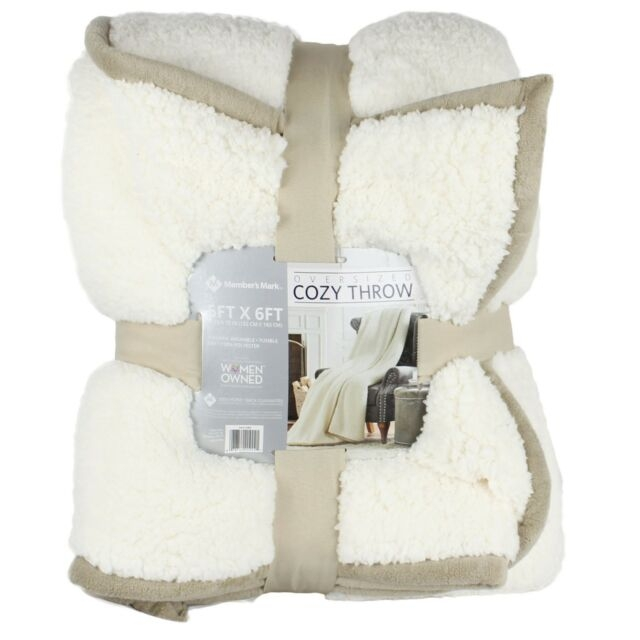 new warm ultra soft cuddly cabin sherpa throw blanket oversized 60x72 8 colors Cuddly Cabin Throw