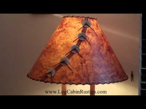 rustic lamp shade country rice paper lamp shades made in america Cabin Lamp Shades