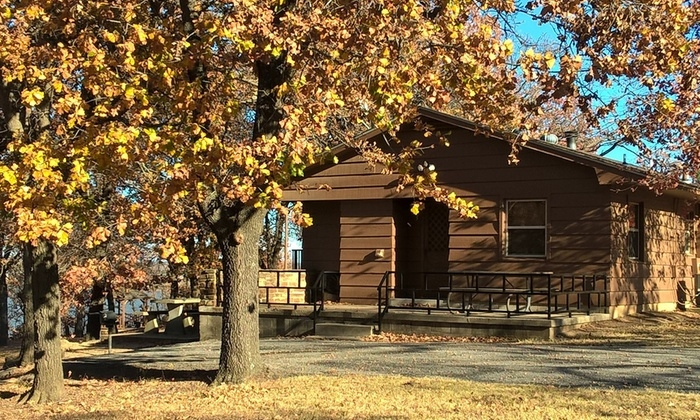 1 or 2 night stay for four in a one bedroom cabin at keystone state park in sand springs ok Oklahoma State Park Cabins