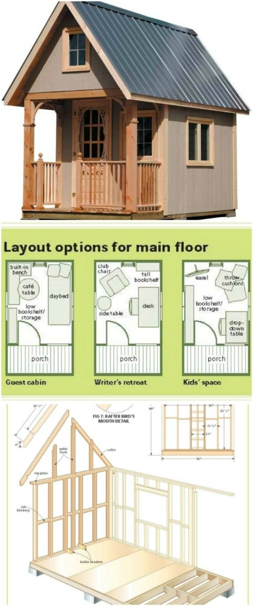 17 do it yourself tiny houses with free or low cost plans Free Cabin Plans With Loft