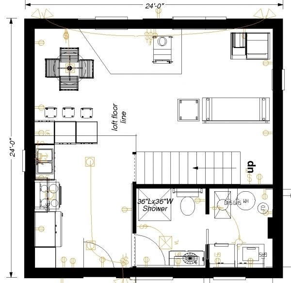 24x24 main floor plan floor plans how to plan flooring 24x24 Cabin Plans