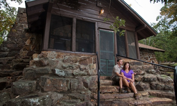 46 for a 1 night stay for up to 4 in a 1 bedroom stone cabin at greenleaf state park up to 93 value Oklahoma State Park Cabins
