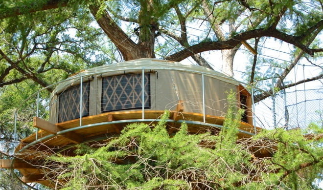 9 whimsical texas tree houses and cabins for your next getaway Cabin Getaways In Texas