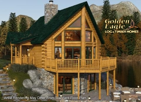 golden eagle log and timber homes plans and pricing Log Cabin House Plans With Loft