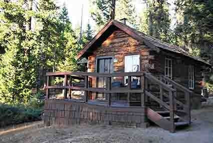 honeymoon cabin oficially this is cabin number 9 built in Sequoia National Park Cabins