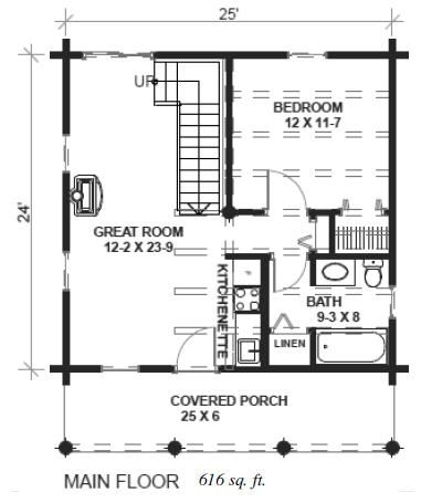 image result for 24x24 cabin plans with loft cabin plans 24x24 Cabin Plans