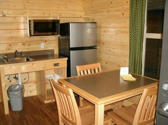 in deluxe cabin had everything but a stove but bbq is Fort Stevens Cabins