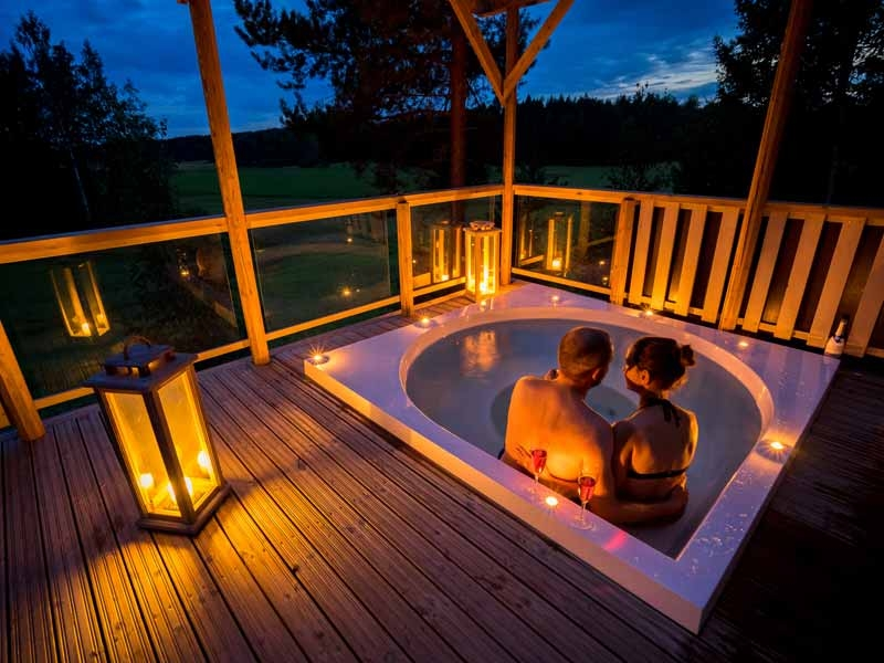 romantic cabin with hot tub in southern finland nature travels Romantic Log Cabin Getaways With Hot Tub