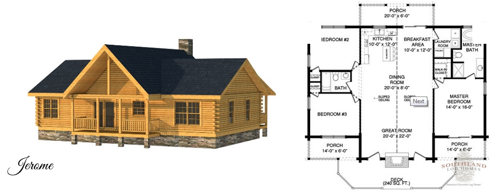 small log homes kits southland log homes Log Cabin House Plans With Loft