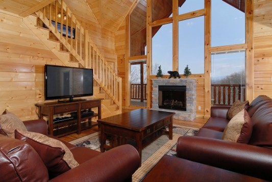 smoky mountains large log homes and rental log big cabins Smoky Mountain Log Cabins For Sale