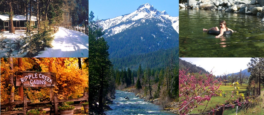 trinity alps year round vacation retreat cabins for rent Ripple Creek Cabins