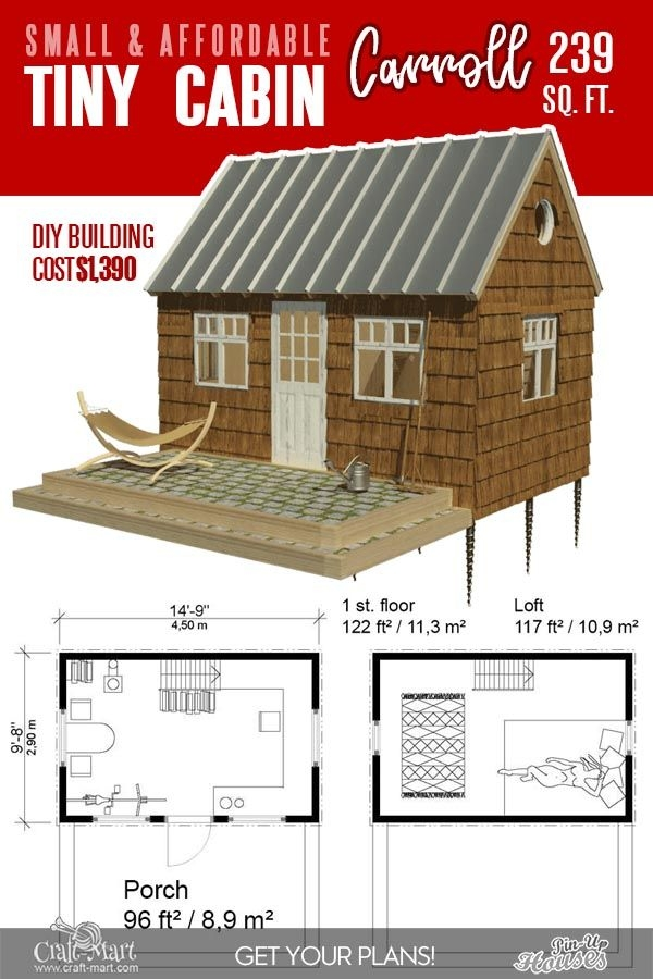 13 best small cabin plans with cost to build craft mart in Simple Cabin Plans
