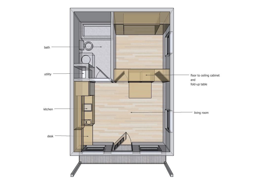 14 x 20 interior space ideas tinyhousedesign 15 By 20 Cabin