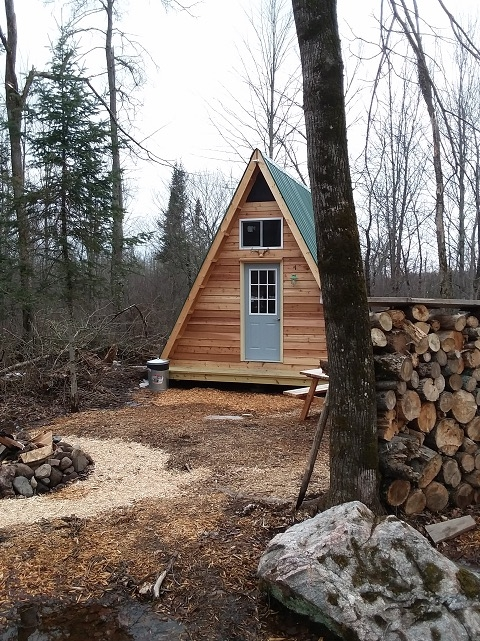 14x14 a frame tiny cabin built from one of lamar alexanders Tiny Cabin