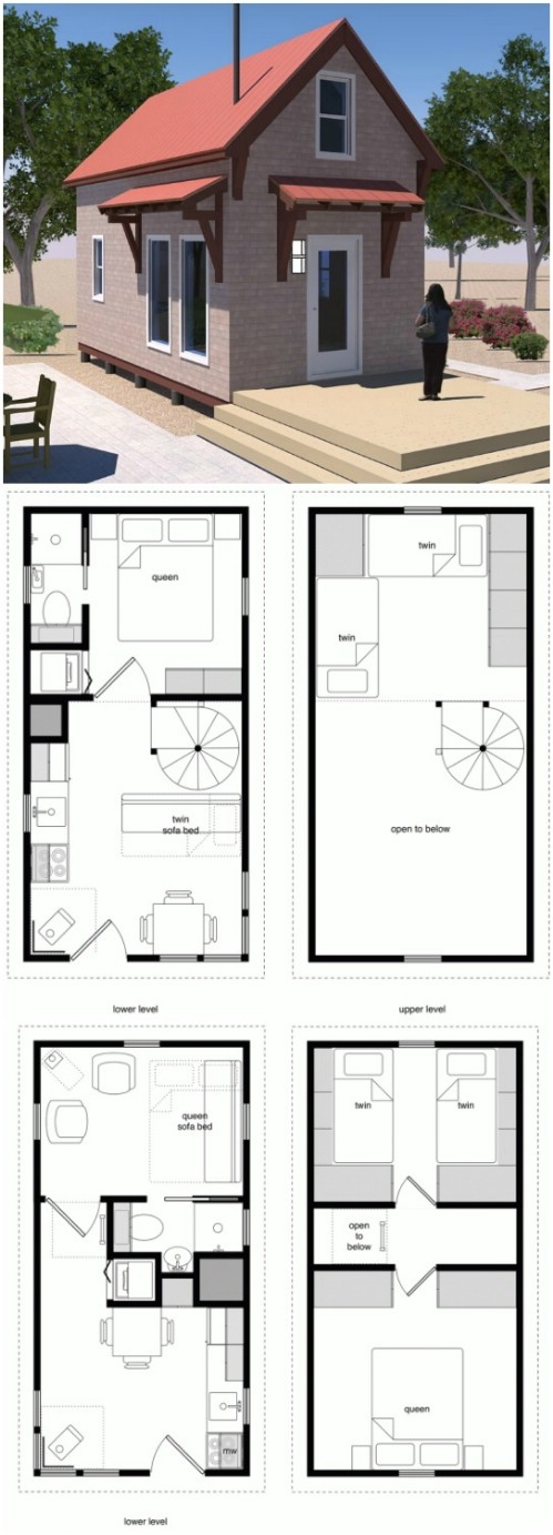 17 do it yourself tiny houses with free or low cost plans Tiny Cabin Floor Plans