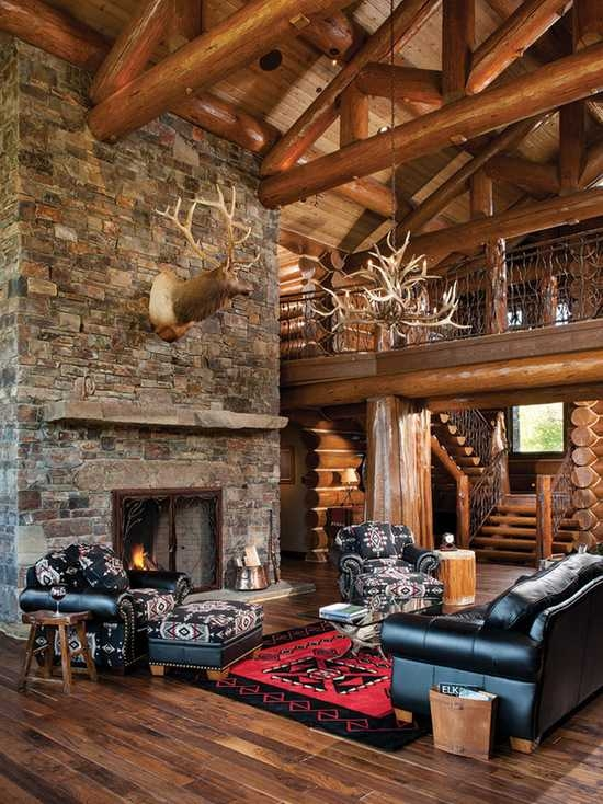 18 cozy and rustic cabin living room design ideas Cabin Living Room Ideas