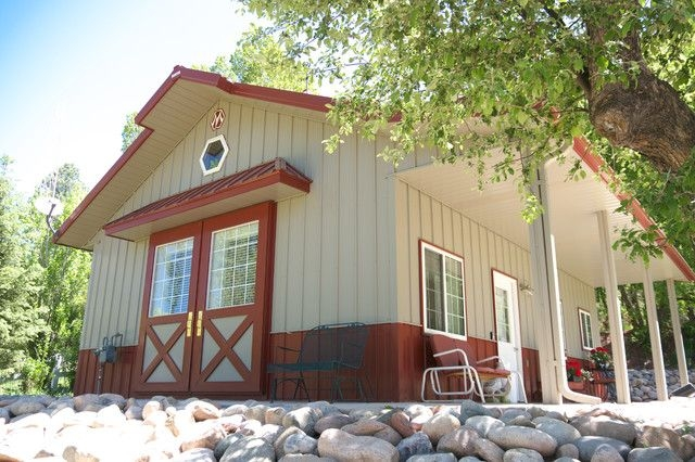 24 x 30 metal building home for a couple or small fam hq 24x30 Shed Roof Cabin Ideas