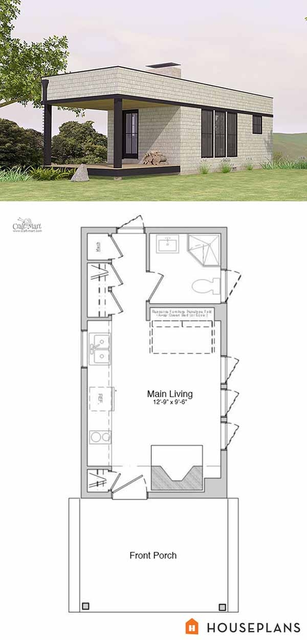 27 adorable free tiny house floor plans craft mart Tiny Cabin Floor Plans