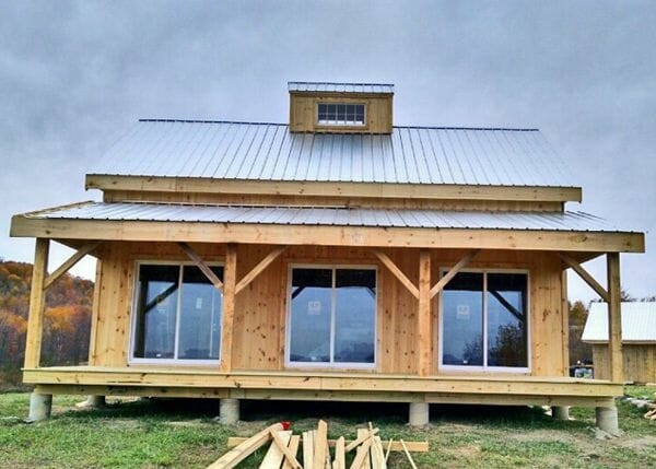 a frame cabin kit timber frame home kit post and beam 24×30 Cabin