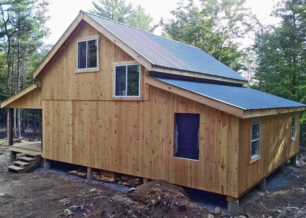 a frame cabin kit timber frame home kit post and beam 24x30 Shed Roof Cabin Ideas