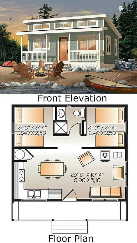 a simple 24x20 cabin with awesome must see floor plan tiny Amazing Small House Cabin Plans Designs