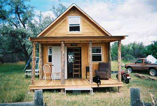 a solar cabin in two weeks for 2000 tiny house plans Solar Cabin