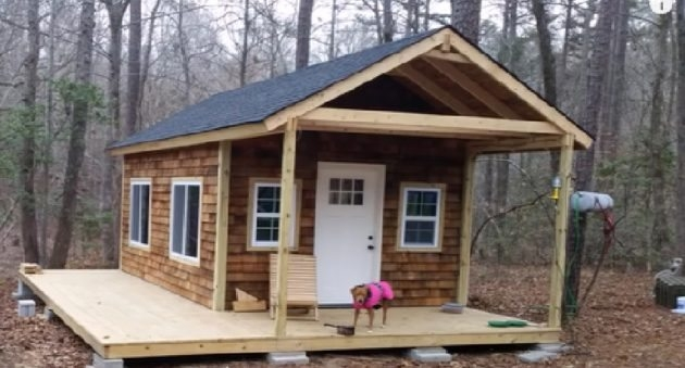 anyone could handle this tiny cabin in the woods diy project Tiny Cabin