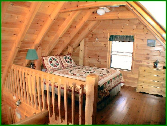 apparently you need a country quilt for every bed in a cabin Small Cabins With Loft