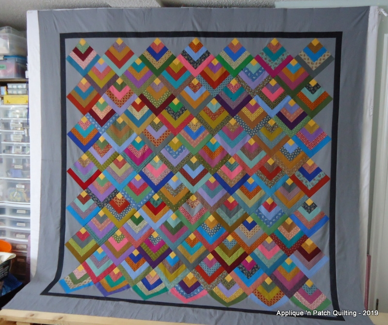 applique n patch quilting chevron log cabin Log Cabin Chevron