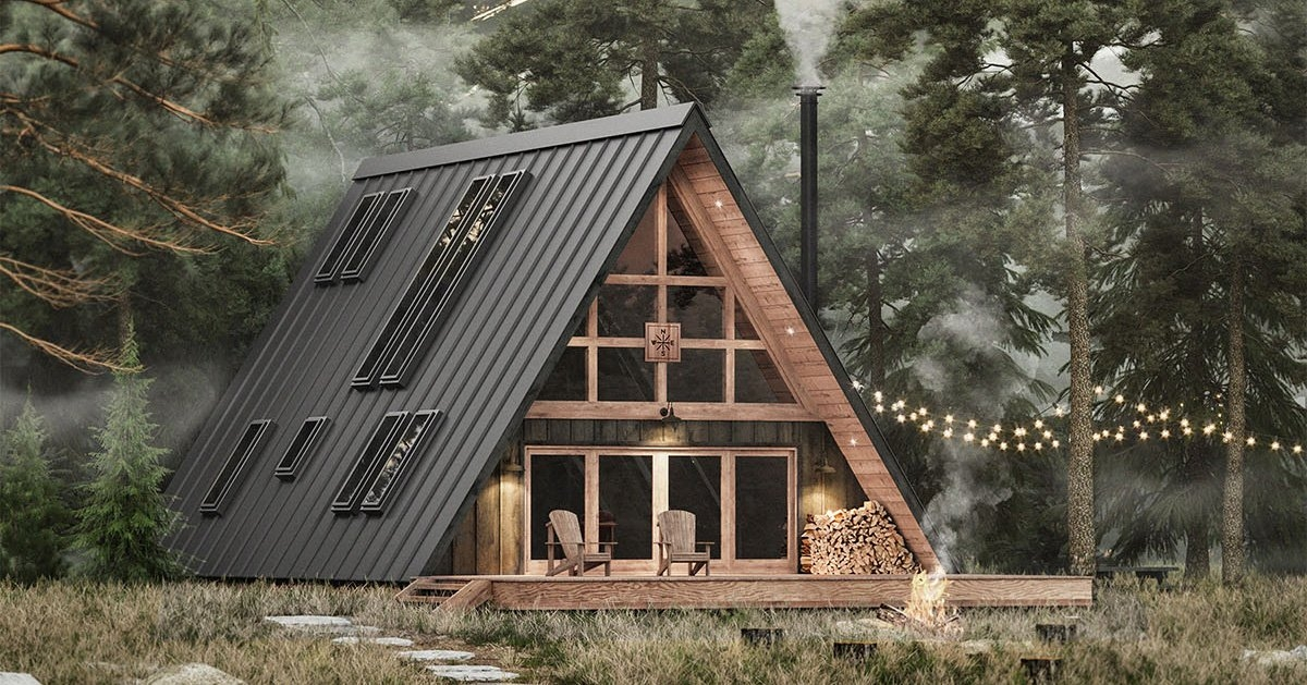 Permalink to Simple A Frame Cabin  Ideas