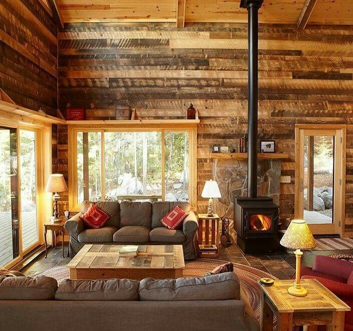 beautiful lodge style living room cabin living room Country Cabin Living Room Ideas