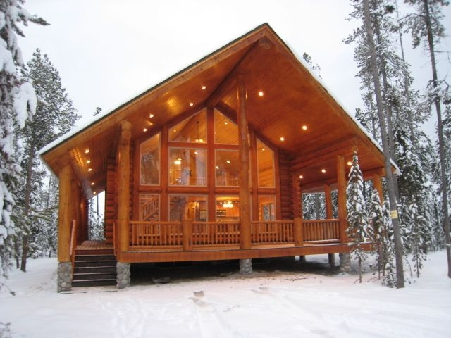 beautiful modern cabin in the snow cabin style homes Prefab Cabins