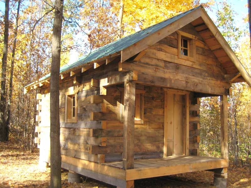 build a log cabin without spending a fortune small log Rustic Cabin Plans