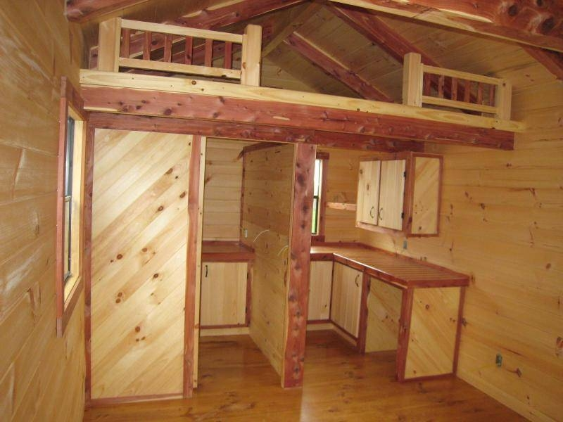 cabin loft wood small trophyamishcabins cottage house Small Cabins With Loft