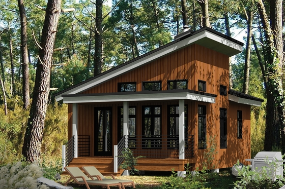 cabin style house plan 1 beds 1 baths 480 sqft plan 25 Simple Cabin House