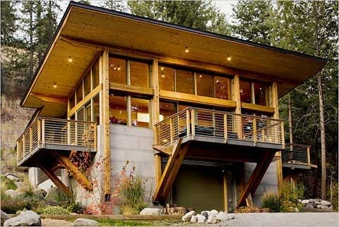 charles hudson the best gear for home and away modern Small Modern Log Cabin