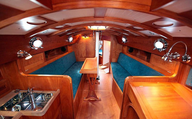 classic sailboat spirit 46 spirit yachts open transom Beautiful Wood Sailboat Cabins