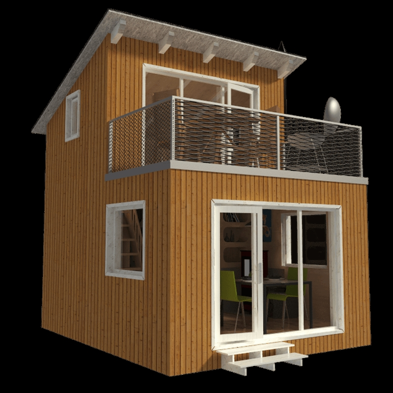 contemporary cabin plans yvonne Tiny Cabin Plans