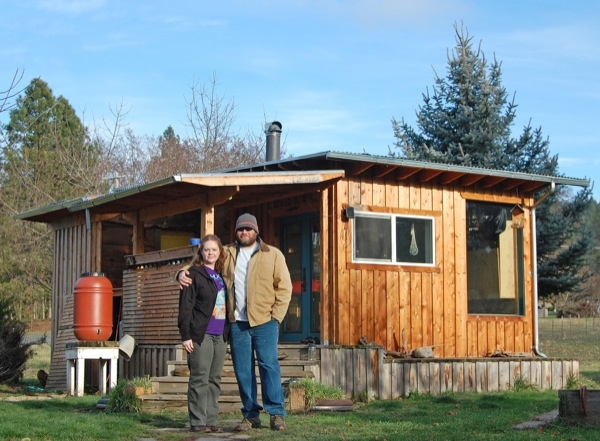 couple build diy reclaimed off grid tiny cabin for 7k Small Off Grid Cabin