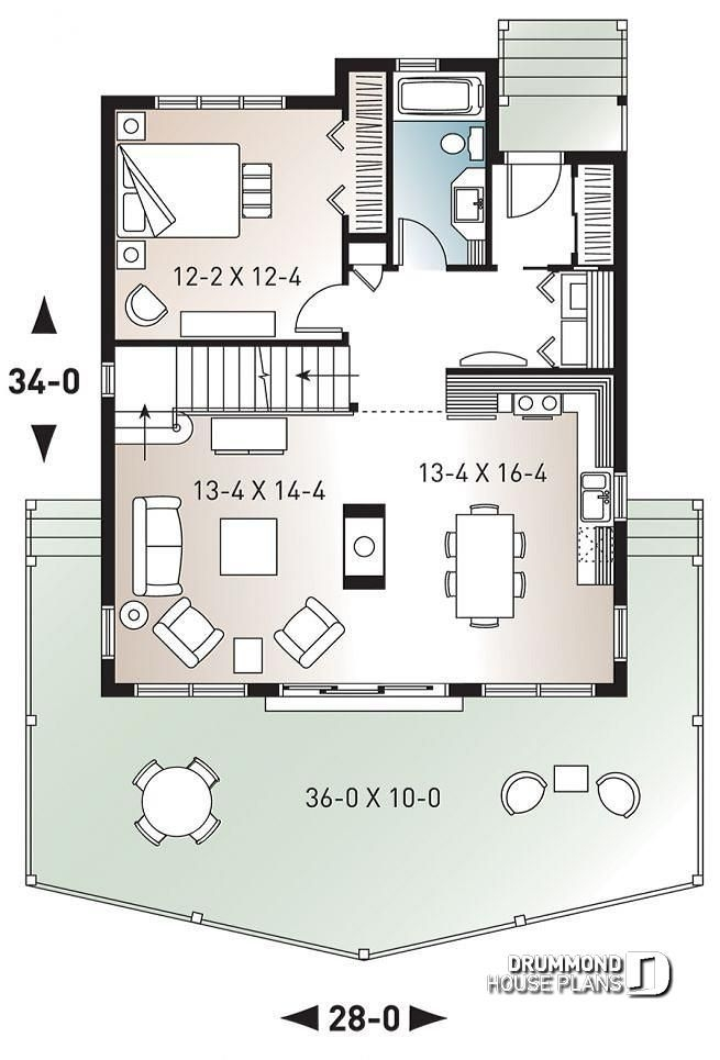 discover the plan 3938 the skylark which will please you Cabin House Floorplans