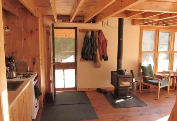 diy 704 sq ft hand built off grid tiny cabin small cabin Small Off Grid Cabin Interior