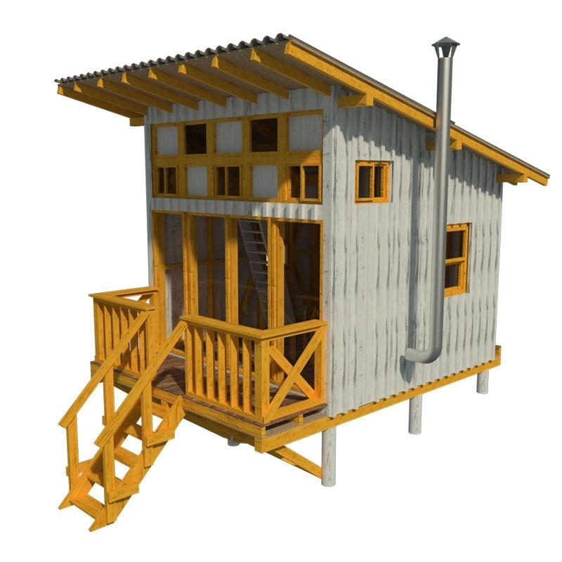 elevated cabin plans virginia Tiny Cabin Plans