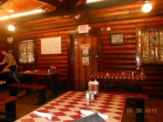 front door dine area picture of log cabin bar b que Log Cabin Bar Areas