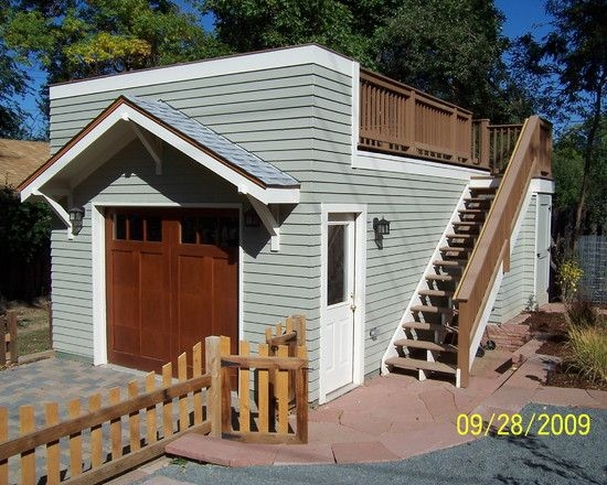 garage and shed rooftop deck design pictures remodel 24x30 Shed Roof Cabin Ideas