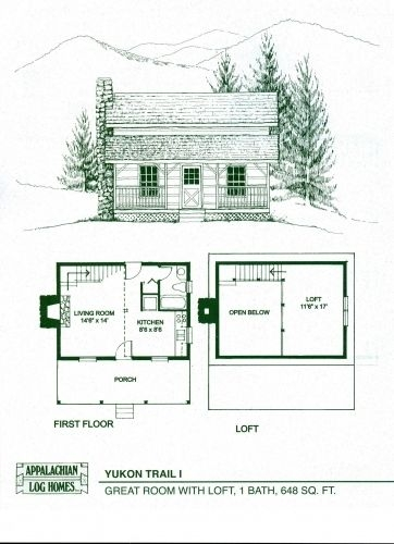 gorgeous small log cabin floor plans with loft free small Cabin Blueprints