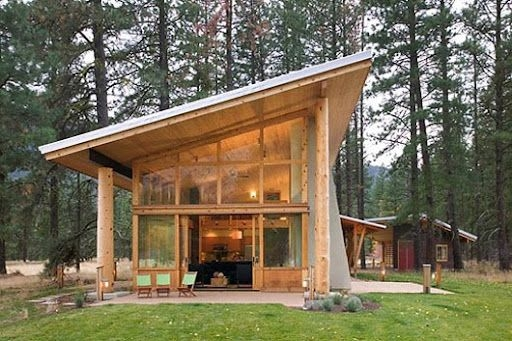 great windows small wooden house wooden house design Small Modern Cabin