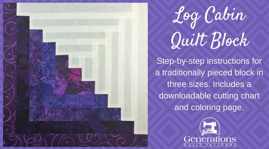 how to make a log cabin quilt block the easy way in 3 sizes Log Cabin Quilt Pattern Using 2 1/2 Inch Strips